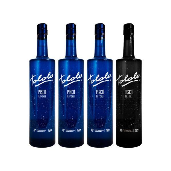 3 Piscos Tololo Blue + 1 Pisco Tololo Black Gratis